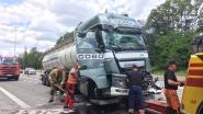 Tankwagen en truck botsen op E313 in Lummen: file van voor Tessenderlo