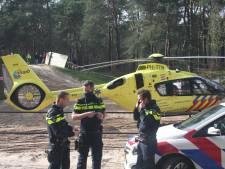 Motorcrosser gewond na zwaar ongeluk: traumaheli landt in Nunspeet