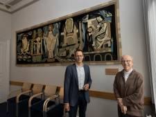 Een betere plek is er niet voor Heilige Willibrordus; historisch wandkleed in pastorie Nicolaaskerk