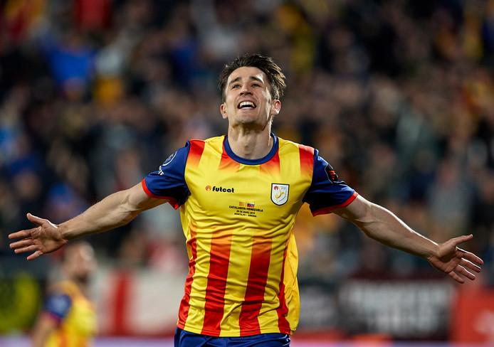 Bojan Krkic opende in de 53ste minuut de score voor Catalonië.