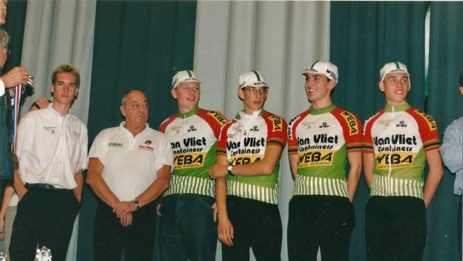 Profwielrenners Michael Boogerd, Tom Leezer en Jos van Emden zaten ooit op de achterbank bij Piet
