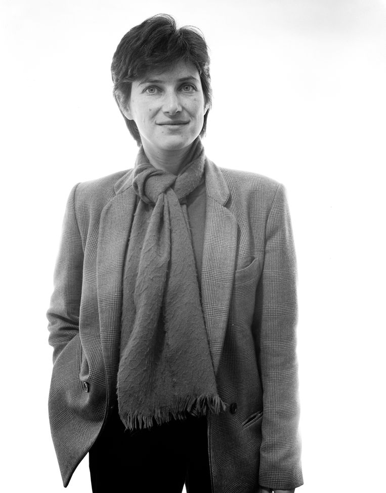 Chantal Akerman, Rotterdam, 1983, gefotografeerd door Pieter Vandermeer Foto: Pieter Vandermeer Beeld Hollandse Hoogte / Nederlands Fotomuseum