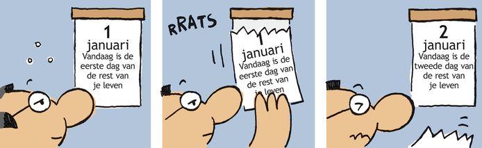 Deze strip van Herman Roozen heeft in het AD gestaan.