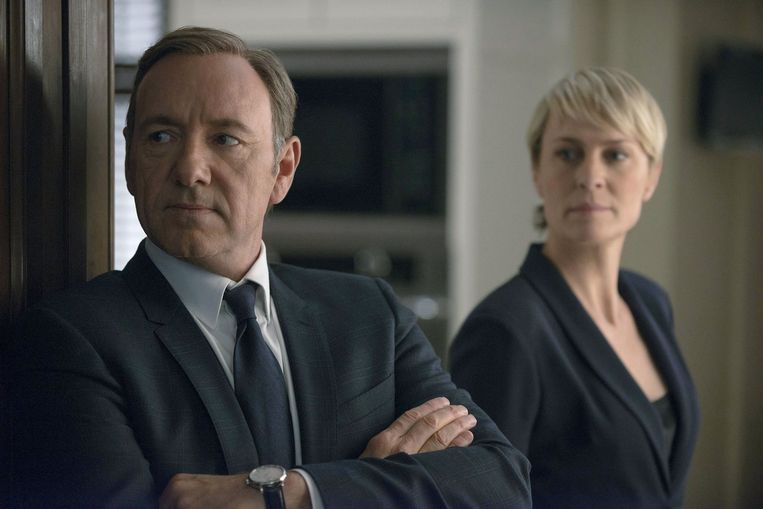 Kevin Spacey en Robin Wright als Frank en Claire Underwood in 'House of Cards'.