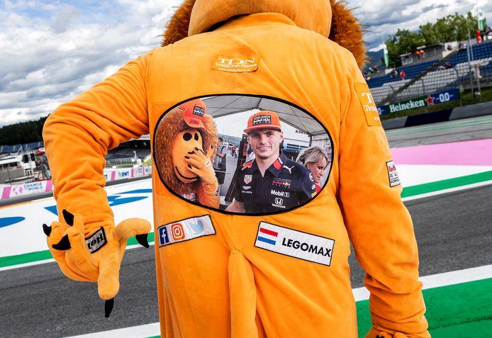 Fans van Max Verstappen op de Red Bull Ring in deelstaat Stiermarken.