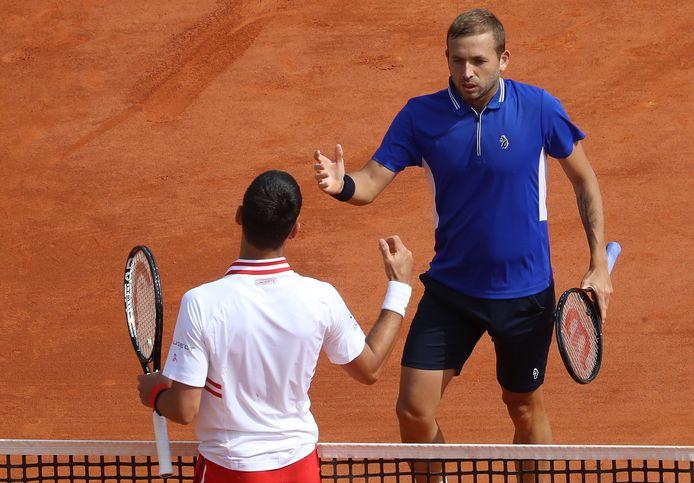 """Dan Evans a """"démantelé le jeu"""" de Novak Djokovic."""