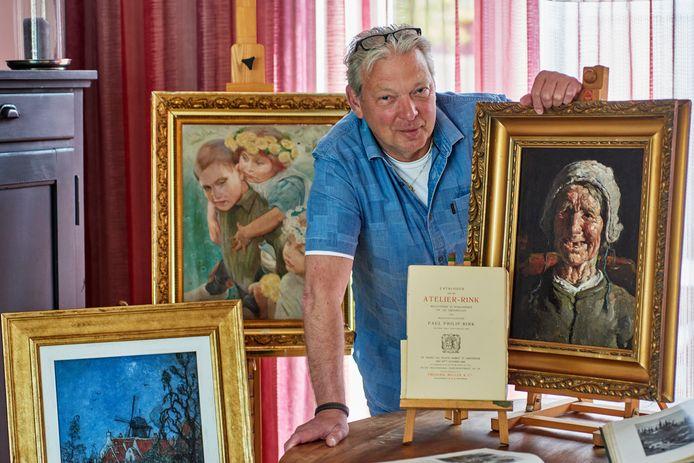 Erik van de Tillaart is liefhebber van de in Veghel geboren schilder Paul Rink.