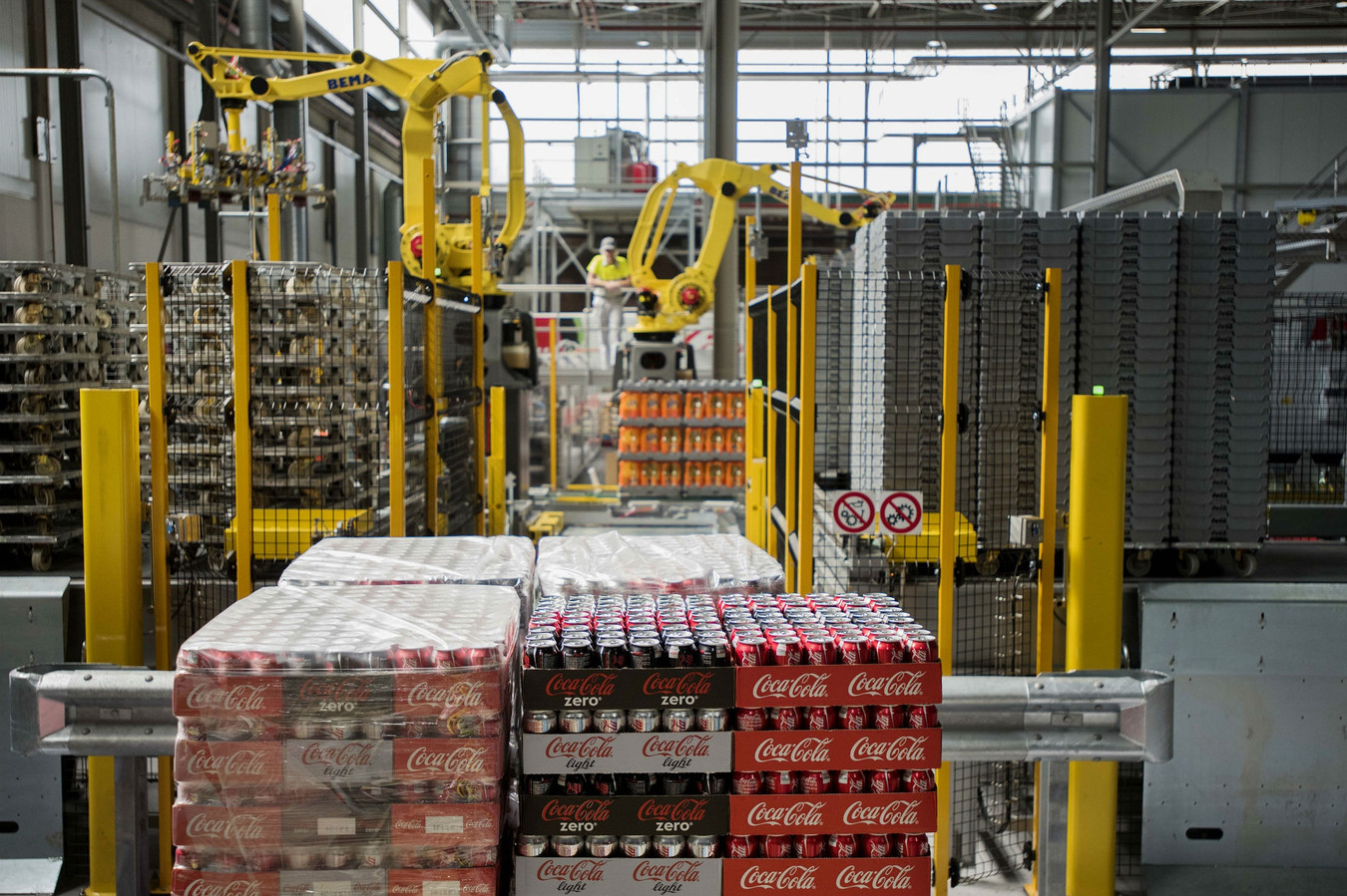 De fabriek van Coca-Cola in Dongen.