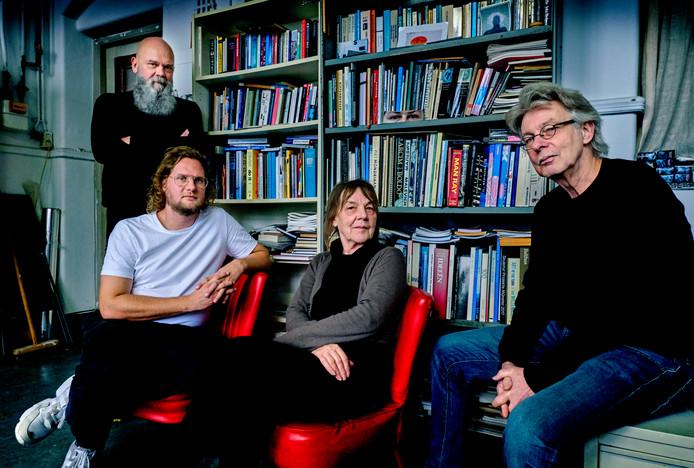 Van links naar rechts: Frans van Lent, David Timmer, Trudy Kunkeler en Ton Kraayeveld.