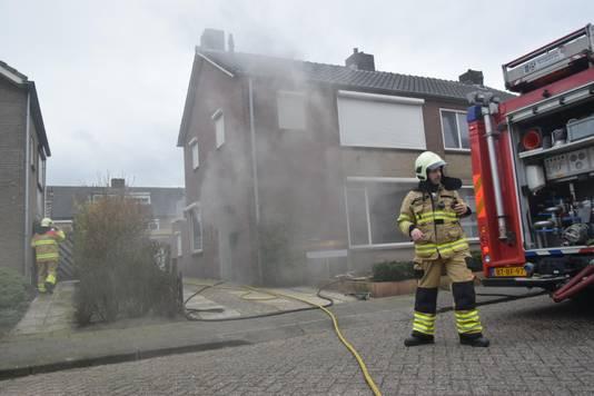 Brand op de benedenverdieping van een huis in Huissen.