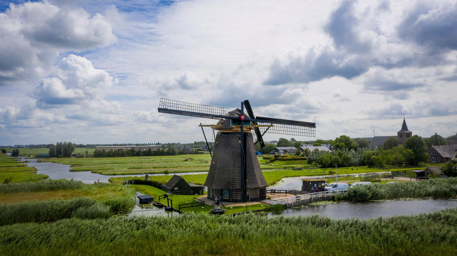 Goudriaanse molen heeft een wiek verloren.