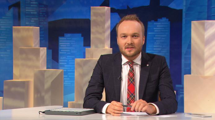 Comedian, schrijver en presentator Arjen Lubach praat in de satirische show zeven dagen nieuws aan elkaar.