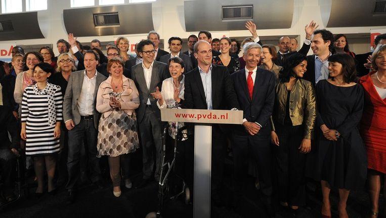 Diederik Samsom presenteert de kieslijst van de PvdA Beeld anp