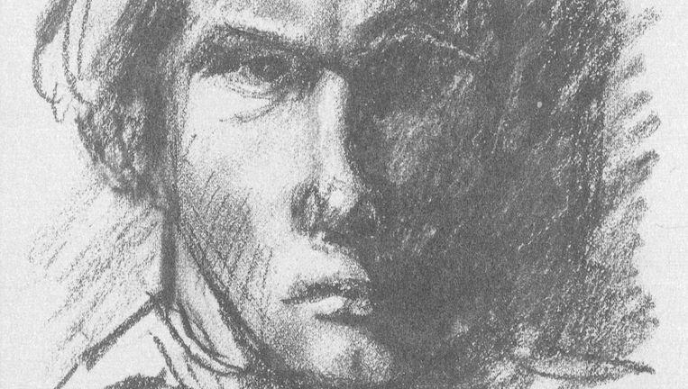Zelfportret van Jan Wolkers op 18-jarige leeftijd, 1944 Beeld null