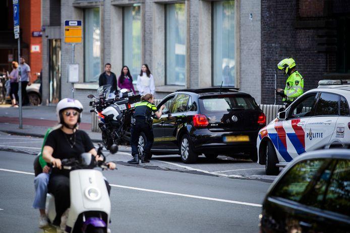 Deze keer geen dure huurauto, maar wel iemand die de aandacht van de politie heeft getrokken bij de actie van zaterdag.