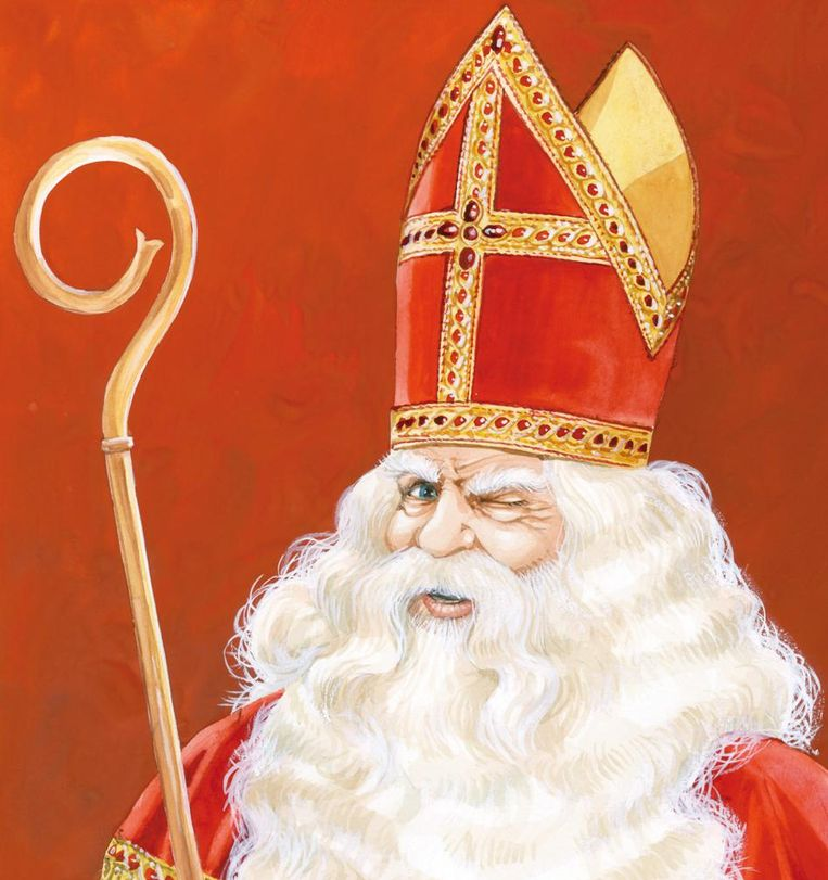 Omslag Sinterklaas verklaard, onder redactie van Willem Koops, Madelon Pieper en Eugenie Boer. Beeld