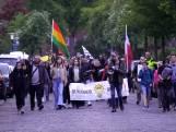 Protest tegen coronamaatregelen in Stratum