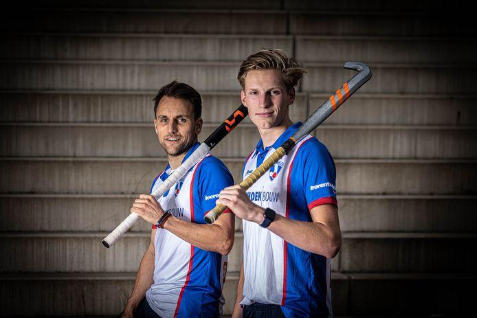 HC Zwolle mannen raakt een aantal spelers kwijt, onder wie Joost Boersma (r) die vanwege zijn studie uitwijkt naar Letland. Matthijs Verhoef (l) stopt met hockeyen.