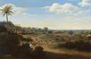 Braziliaans landschap met een huis in aanbouw, een van de werken van Frans Post die verband houden met Johan Maurits.