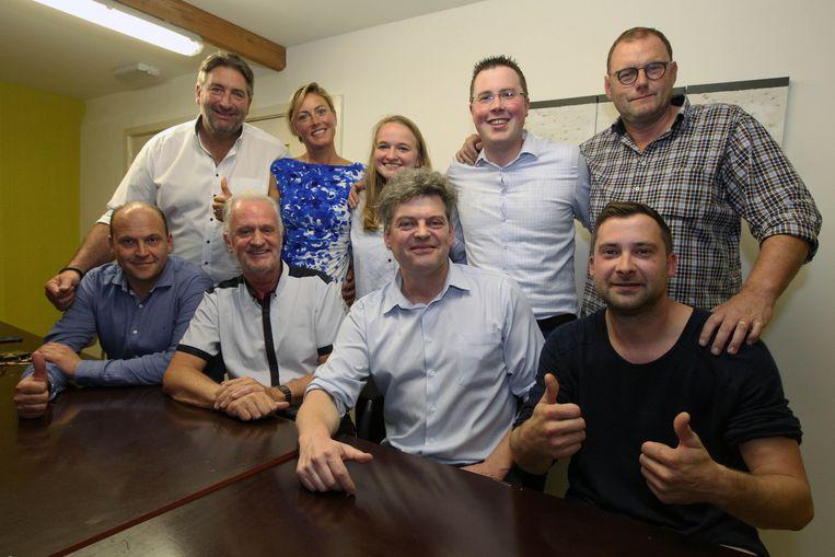 Bart Van Hulle en zijn team van Open Vld.