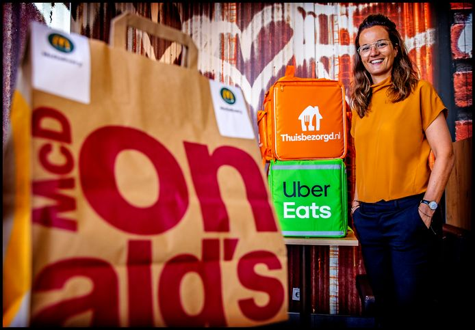 Annemarie Swijtink van McDonalds Nederland. De fastfoodketen zet in op een versnelde groei van bezorgservice McDelivery.
