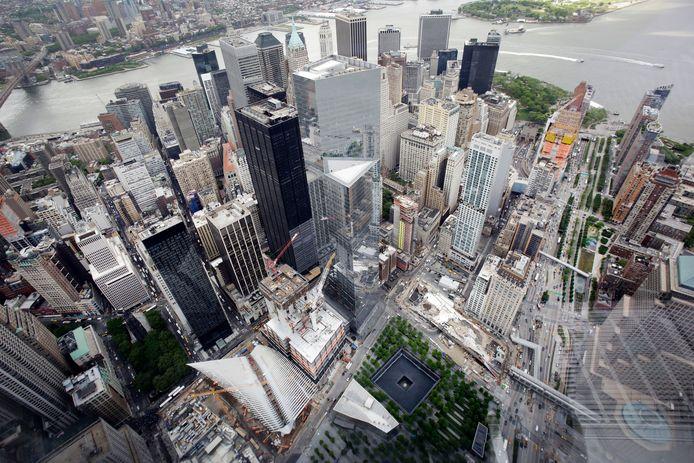 Het financiële district van het World Trade Center.