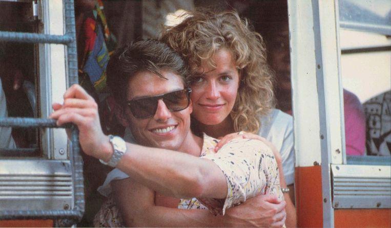 Tom Cruise en Elisabeth Shue in Cocktail van Roger Donaldson Beeld x