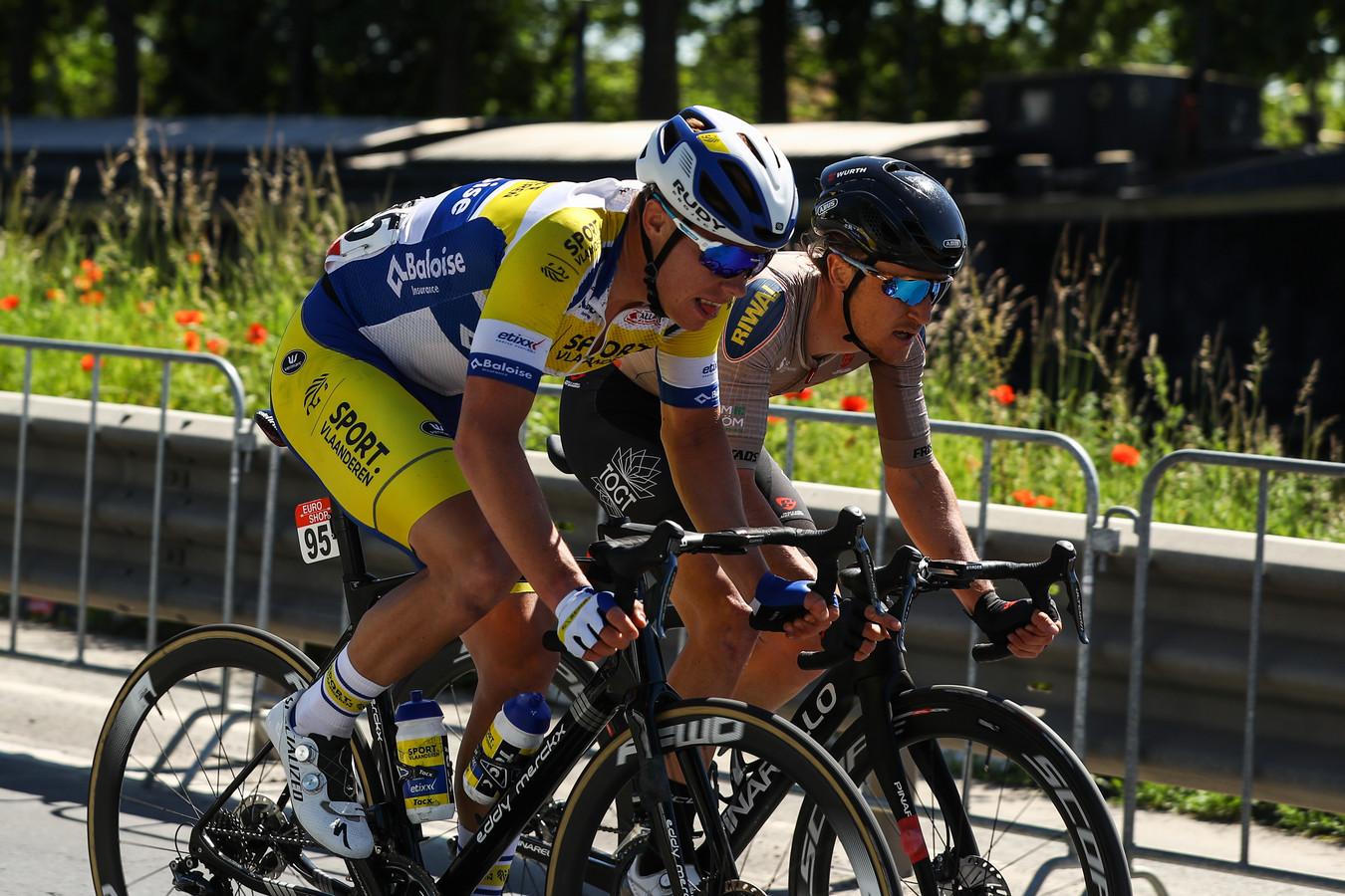 Nick van der Lijke werd woensdag 27ste in de tweede etappe van de Ronde van Wallonië.