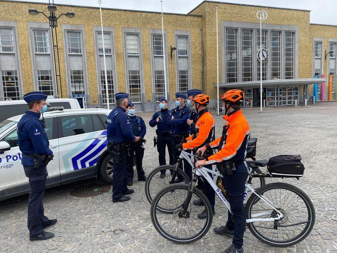 Extra patrouilles in Brugge