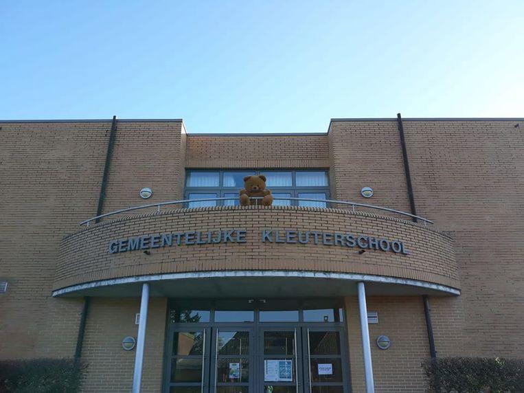 Berenjacht in Zandhoven: ook de gemeentelijke basisschool doet mee.