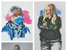 'Jong en oud, mooi en vermoeid', Bergse kunstenaar maakt portretten van helden in de zorg