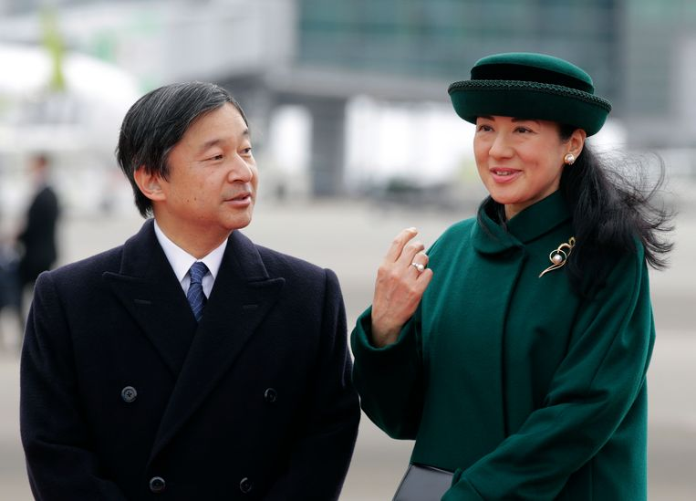 Kroonprins Naruhito  en prinses Masako.