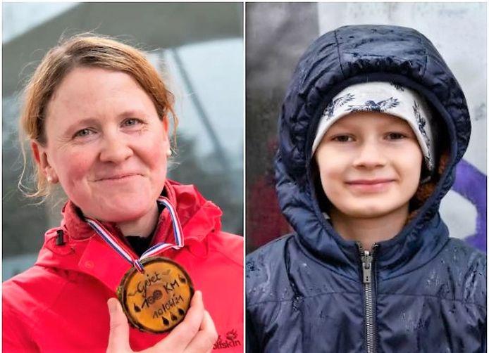 Griet Desmet (l.) en haar neefje Thomas (r.).