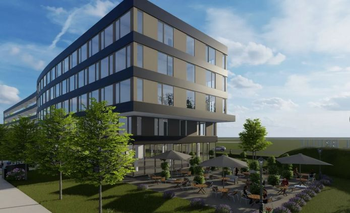 Zo komt het nieuwe hotel tussen de Groene Kruisweg en de Nolle in Brielle eruit te zien.