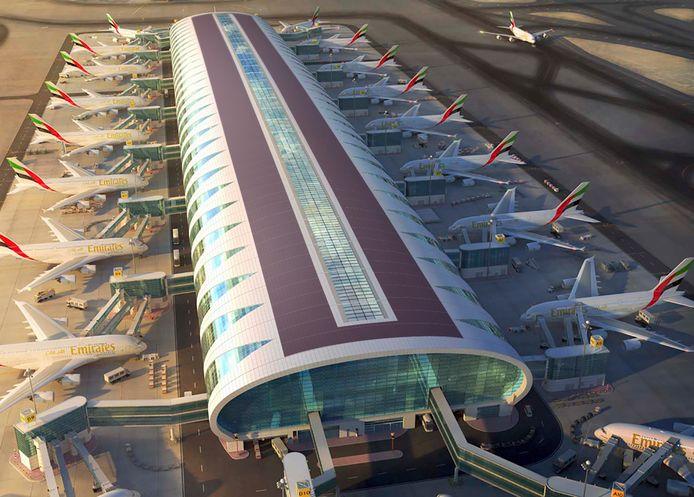 Zonnefolie op dak terrminal Airpot Dubai Artist impression.