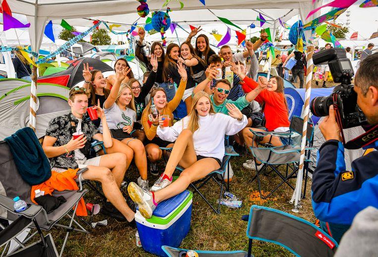 KIEWIT, BELGIUM - AUGUST 15 : Pukkelpop 2019 camping pictured on August 15, 2019 in Kiewit, Belgium, 15/08/2019 ( Photo by Joel Hoylaerts / Photo News )