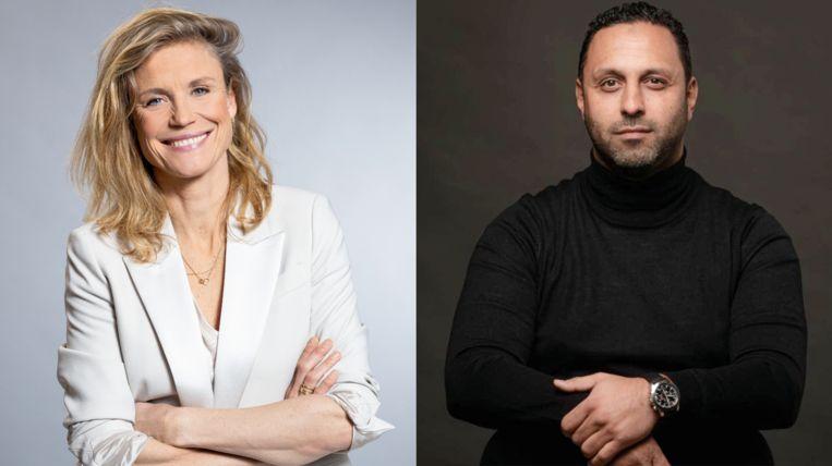 Sophie Hilbrand (l) en Khalid Kasem zullen om en om De vooravond presenteren. Beeld Wessel de Groot en JW Kaldenbach via BNNVara