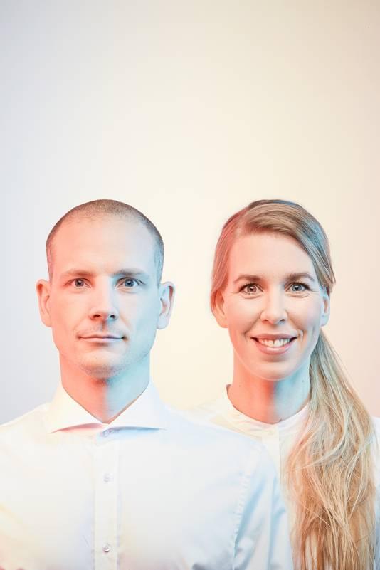 Tineke Beunders en Nathan Wierink werken samen onder de naam Ontwerpduo, het bedrijf achter Aptum.