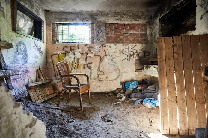 Bunkers dienen als ideale verblijfplaats.