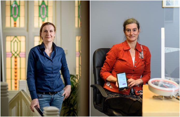 Links: Huisarts Marieke Nijhof. Rechts: Huisarts Bettina van Steenis.