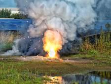 Steekvlammen van 2.400 graden bij brand in Brabants zonnepanelenpark