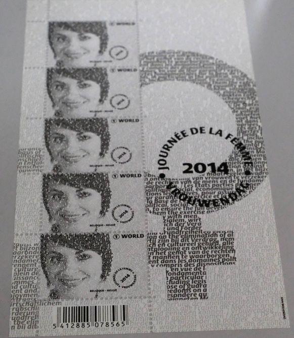 De postzegel met de meeste woorden ter wereld.