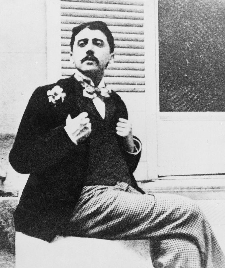 De Franse auteur Marcel Proust (1871- 1922).  Beeld Universal Images Group via Getty