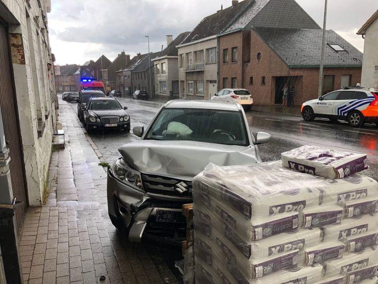 De schade aan de voertuigen was aanzienlijk.