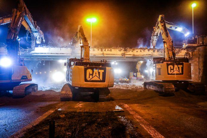De afbraak van de Konterdambrug in Oostende.