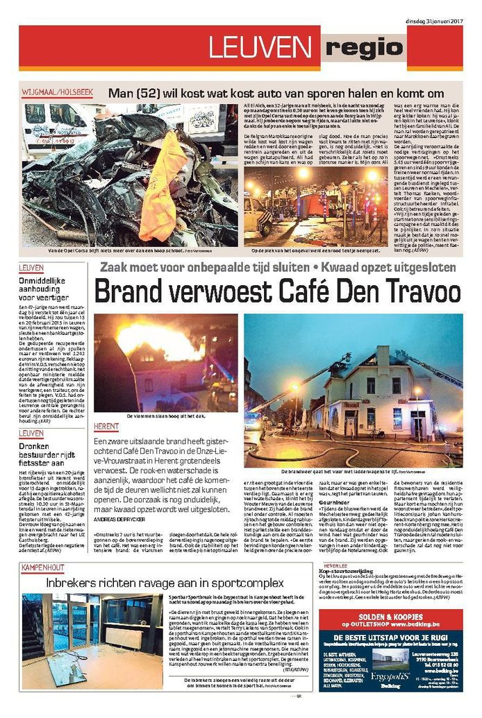 Het artikel van vorige maand in deze krant, daags na de zware brand.
