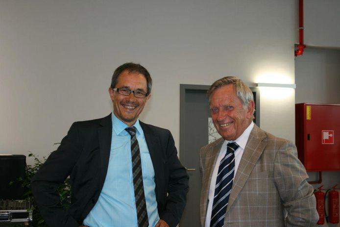 Paul Beeckman (rechts) met voormalig schepen Herman De Wulf.