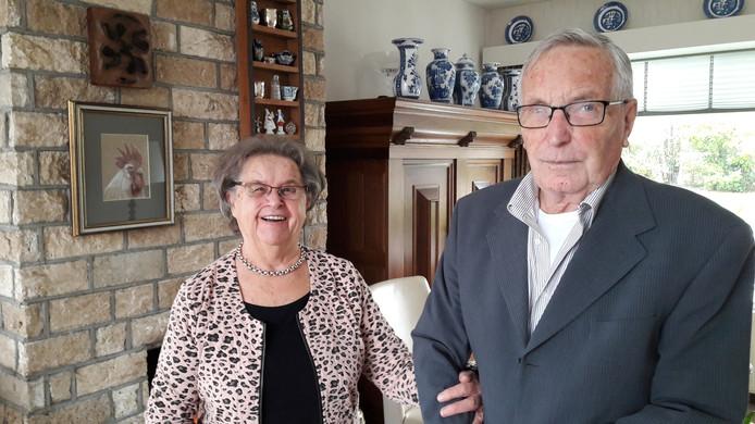 Corry en Ben Schurink, 60 jaar getrouwd.