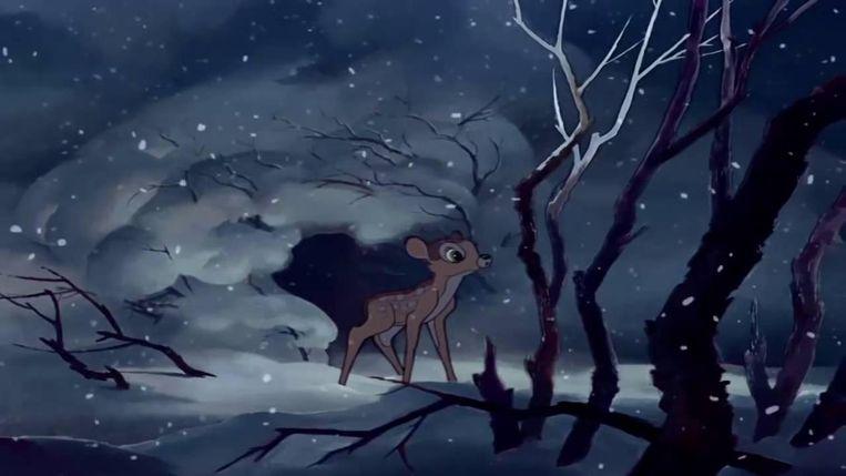 Scène uit Bambi. Beeld