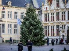 Brugges grootste kerstboom staat al op de Burg